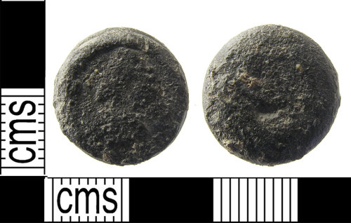 LON-931992: A post medieval lead alloy weight dating to the 17th century.