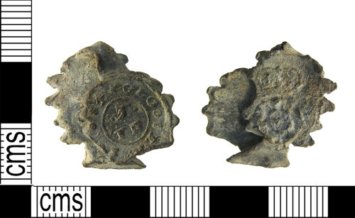 LON-3903B0: Incomplete post medieval, 17th-18th century, lead cloth seal, AD1600-1800.