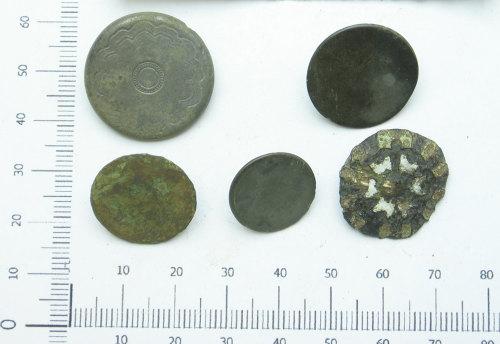 HESH-2C3A67: Post-Medieval: 'Stuart' enamel buttons