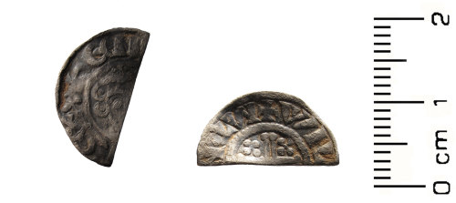 HESH-701D4F: Medieval: cut halfpenny