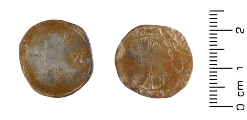 WAW-E43093: Post-Medieval: Charles I sixpence