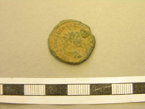 LON-CF22F1: Roman Coin : Antoninianus of Diocletian (obverse)