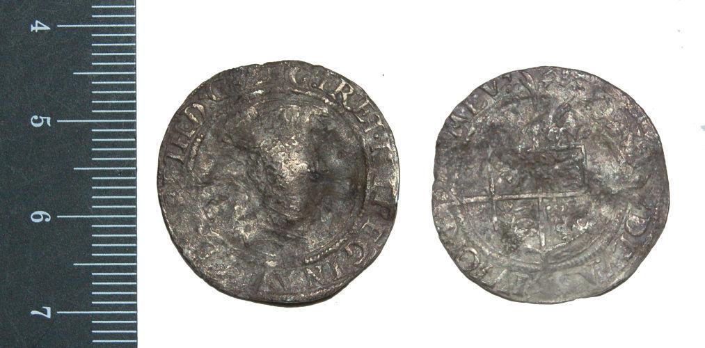CAM-B9CEF3: Elizabeth I sixpence