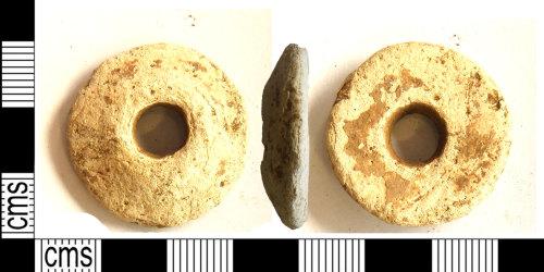 LEIC-24693D: Undated lead alloy spindle whorl