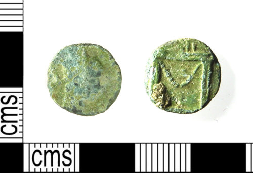 LEIC-289F71: Roman copper alloy radiate, 270-1