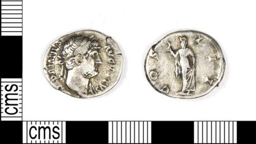 LEIC-296880: Roman silver denarius of Hardrian, AD 117-38