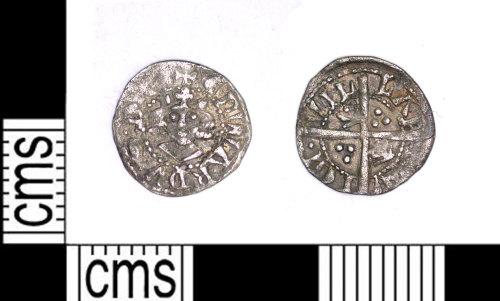 LEIC-41A3B5: Medieval silver farthing of Edward I, 1279-1307?
