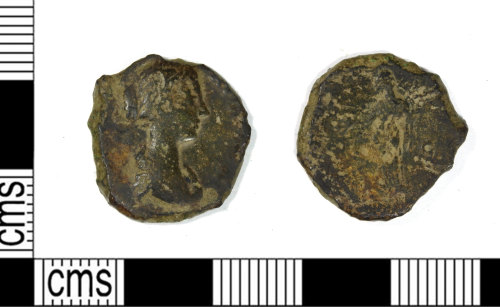 LEIC-486BBE: Roman copper alloy As or Dupondius of an Empress, AD 43-250?