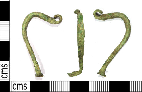 LEIC-48AC76: Late Iron Age / Early Roman bow brooch, 100 BC to AD 100r