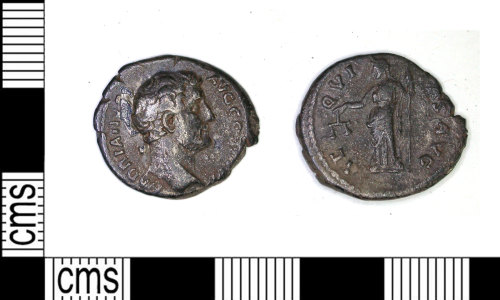 LEIC-4ABE67: Roman silver denarius of Hadran, AD 117-138 (Reece Period 6).