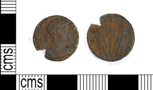 LEIC-4BC6C2: Roman copper alloy nummus of the house of Constatnine, AD 335-337 (Reece Period 15)