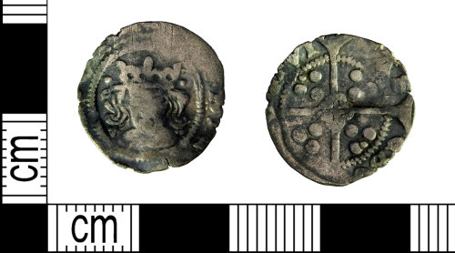 LEIC-54680A: Medieval silver penny of Henry VI(?), 1454-1460