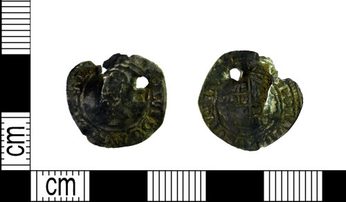 LEIC-5497F3: Post medieval silver halfgroat of Charles I, 1625-49