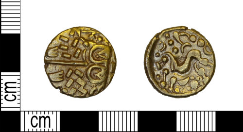 LEIC-5713FF: Iron age gold stater, 60 BC