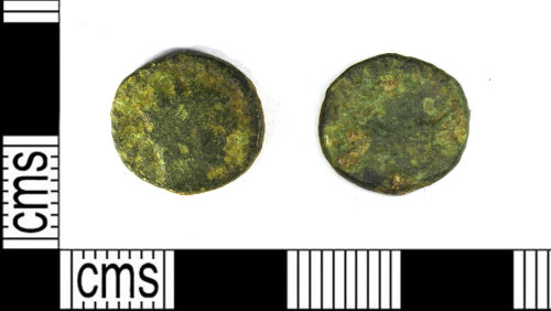 LEIC-5B4741: Roman copper alloy radiate, probably of Postumus, 286-93?