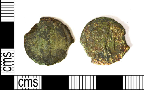 LEIC-5B9531: Roman copper alloy nummus, possibly of Valens? AD 364-78