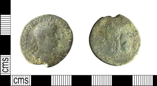 LEIC-5D9AA2: Roman copper alloy as of Hadrian, AD 119 (Reece Period 6)