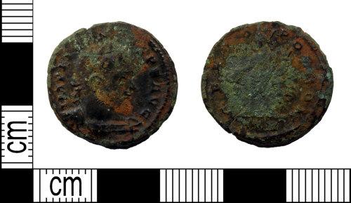 LEIC-743D45: Roman copper alloy nummus of Licinius, AD 314-15 (Reece Period 15)