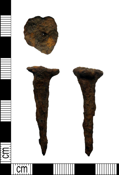 LEIC-74FB08: Roman? iron nail, AD 43-410