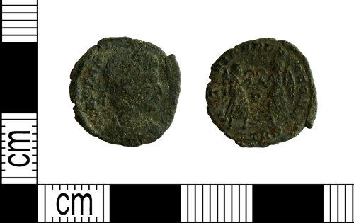LEIC-7D55DE: Roman copper alloy nummus of the House of Constantine , 364-68
