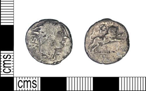LEIC-9C1C66: Roman Republican silver denarius, 105 BC