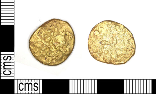 LEIC-9C54D5: Iron age gold stater, 65-45 BC