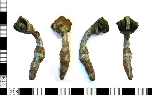 LEIC-A2A05D: Roman copper alloy trumpet brooch, 100-200