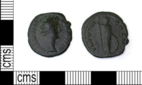 LEIC-ABE483: Roman copper alloy as of Marcus Aurelius, 138-161