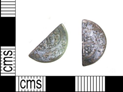 LEIC-AD6F22: Medieval silver short cross cut halfpenny, 1180-1247