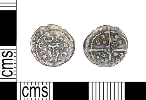 LEIC-B909F3: Medieval silver halfpenny of Edward IV, 1478-83