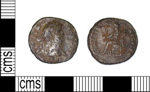 LEIC-E00C9C: Roman silver denarius of Nero, 64-65 AD (Reece Period 3)