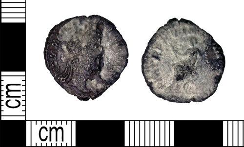 LEIC-E1439C: Roman silver denarius of Commodus, 180-192