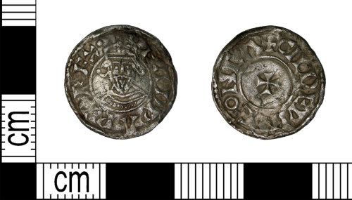 LEIC-E15BE9: Early medieval silver penny of Edward the Confessor, 1062-1065