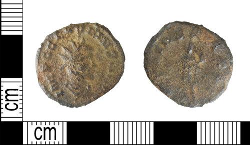 LEIC-E7EAC7: Roman copper alloy radiate of Claudius, 268-70