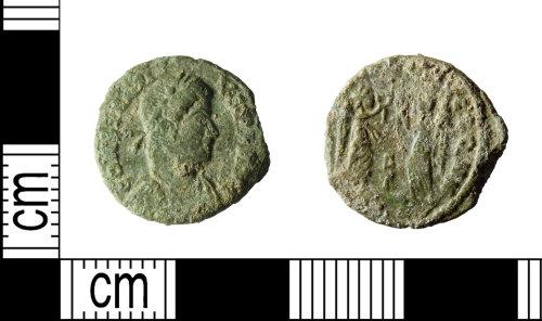 LEIC-EAD072: Roman copper alloy nummus of Constantinus II, 343-8 (Reece Period 17)