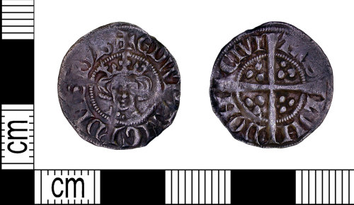 LEIC-F06C2C: Medieval silver penny of Edward I, AD 1282-1300
