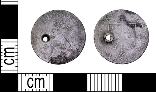 LEIC-F1AE37: Post medieval silver groat of Charles II, 1660-85