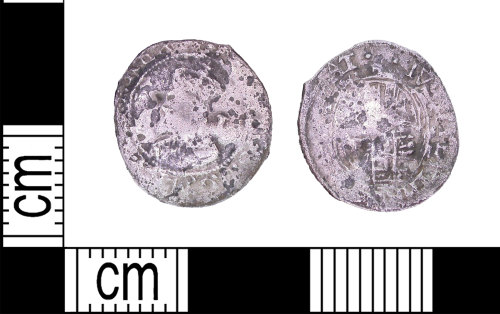 LEIC-F21D27: Post medieval silver penny of Charles I, 1625-1649