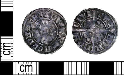 LEIC-F25D26: Medieval silver Edwardian penny, 1300-1400