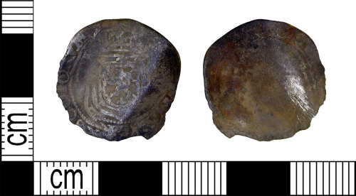 LEIC-F2BB3B: Post medieval silver scottish quarter thisle merk of James VI