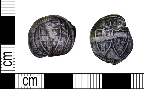 LEIC-F315F8: Post medieval silver commonwealth halfgroat, 1649-1660