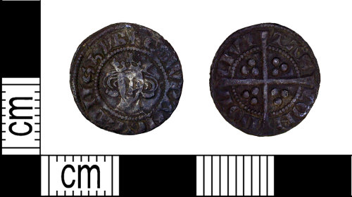LEIC-F3699D: Medieval silver halfpenny of Edward I, 1282-1300