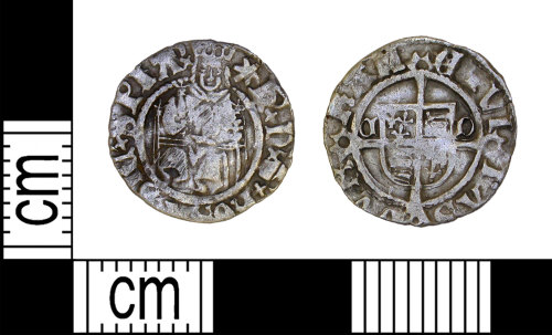 LEIC-F3A8C8: Post medieval silver penny of Henry VIII, 1526-44