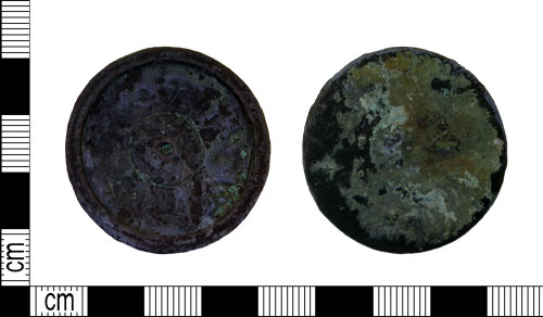 LEIC-F3F126: Post medieval copper alloy trade weight, 1588-1826