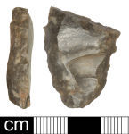 A resized image of Neolithic or Early Bronze Age lithic implement