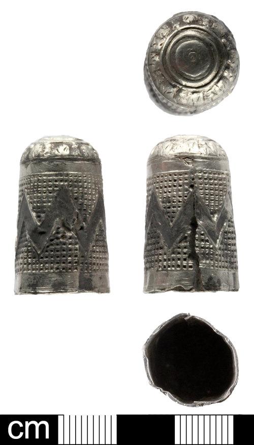 SOM-F97398: Post Medieval thimble
