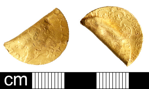 DEV-074A49: Post-Medieval coin: half-guinea of George II