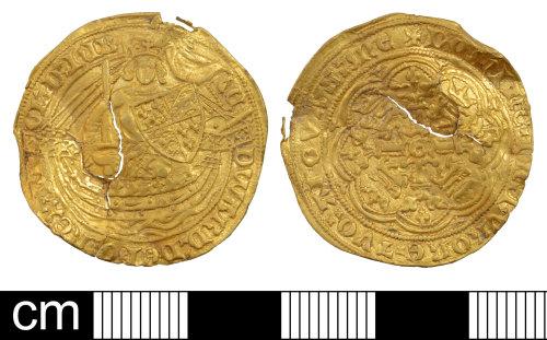 DEV-27555C: Medieval coin: half noble of Edward III