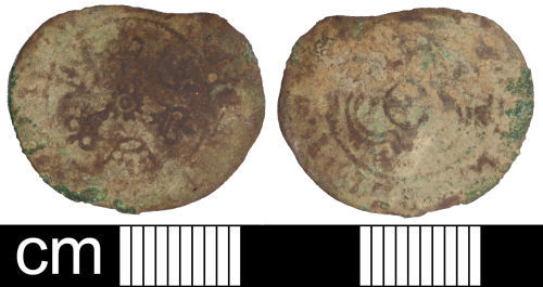 SOM-00B084: Post medieval jetton of Hanns Krauwinckel II