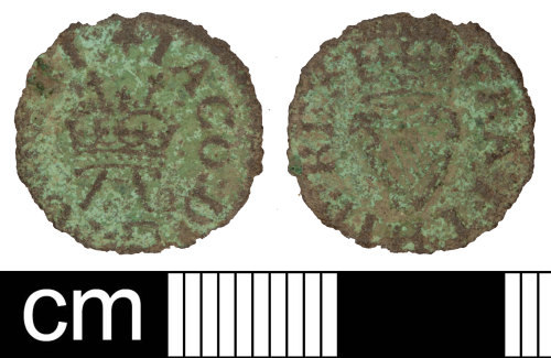 SOM-130C65: Post Medieval coin: farthing of James I
